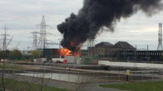 Dublin substation fire