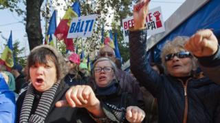 Anti-government protest in Chisinau, 15 Oct 15