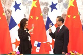 وزيرا خارجية بنما والصين