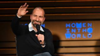 Uber CEO Dara Khosrowshahi speaks onstage at the 2018 Women In The World Summit at Lincoln Center on April 12, 2018 in New York City.