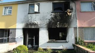 The scene of the fatal house fire in St Colman's Park, Macroom