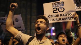 Galatasaray Meydanı'nda düzenlenen gösteri