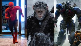 L to R: Spider-Man: Homecoming, War for the Planet of the Apes, Transformers: The Last Knight