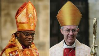 The Archbishop of York Dr John Sentamu and the Archbishop of Canterbury Justin Welby