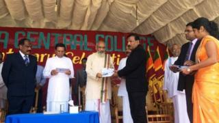 Shugaban kasar Sri Lanka Maithripala Sirisena a wani taro