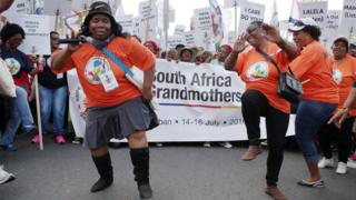 Several hundred protesting grandmothers gather in Durban, South Africa - Saturday 16 July 2016