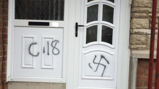 Nazi graffiti sprayed on
