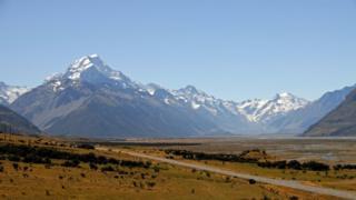 新西蘭的庫克峰