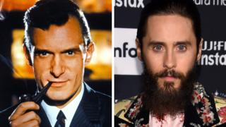 Hugh Hefner and Jared Leto