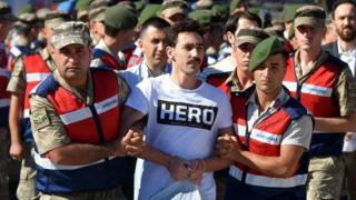 """Prisoner in """"Hero"""" T-shirt, Mugla, 13 Jul 17"""