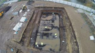 The excavation site