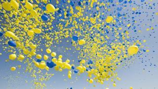 Воздушные шарики в Стокгольме