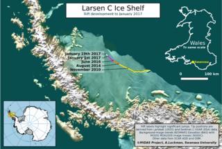 Larsen C graphic