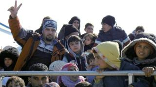 Migrants and refugees arrive on a coastguard boat in Mytilini, Lesvos Island, Greece, 02 February 2016,