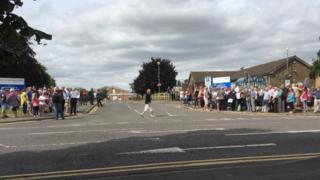 Protest at Grantham hospital