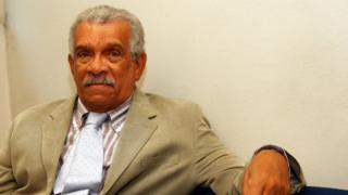 Author Derek Walcott attends the 12th day of La Milanesiana 2008 at Teatro Dal Verme July 8, 2008 in Milan, Italy.