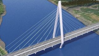 Artist's impression of the new River Wear crossing