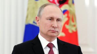 Vladimir Putin in Moscow, 23 Mar 2018