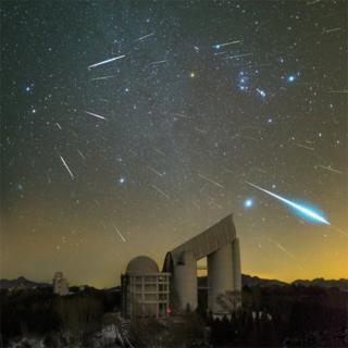 Geminids over the Lamost telescope by Yu Jun