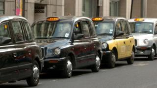 Taxis in Victoria Station taxi rank