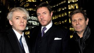 Nick Rhodes, Simon Le Bon and Roger Taylor of Duran Duran