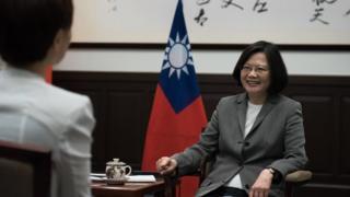 台湾总统蔡英文就职一周年前夕于周四(4月27日)接受路透社独家专访