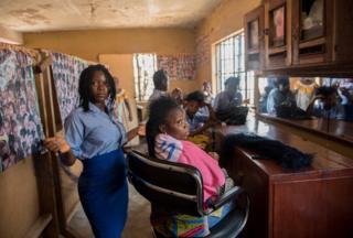 Hawa studies hairdressing
