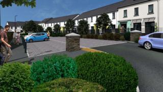 Artist impression of new Clagh Vane estate