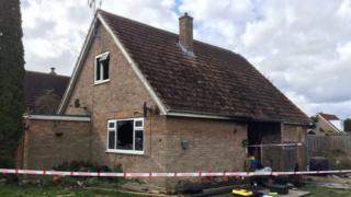 Somersham house after fatal fire