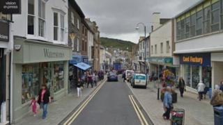 stryd yn Aberystwyth