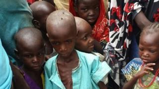 Children in Bama in Nigeria