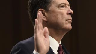 James Comey takes oath as he prepares to give evidence
