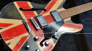Union Jack guitar