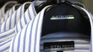 Austin Reed shirts on a rack