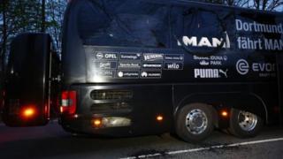 «Боруссия» футбол клубунун автобусунун жанындагы жардыруу