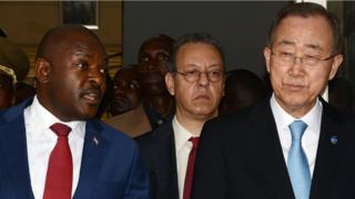Pierre Nkurunziza, Ban Ki-moon