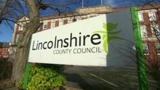 Lincolnshire County Council sign