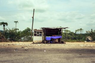A roadside hut in Kumasi, Ghana