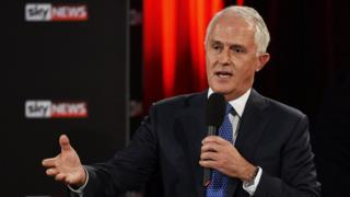 Prime Minister Malcolm Turnbull participates in a Leaders Forum at Windsor RSL as part of the 2016 election campaign on May 13, 2016 in Sydney, Australia.