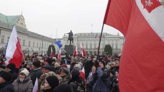 Напередодні протестувальники зібралися навпроти президентського палацу, а потім рушили під Сейм