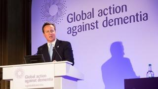 David Cameron speaking at the Global Action Against Dementia conference
