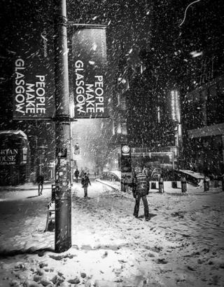snow in Glasgow