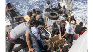Ils ont secouru au total six mille (6.000) migrants sub-sahariens en Méditerranée.