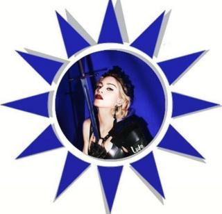 Madonna post status on Facebook