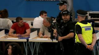Police at Sunderland count