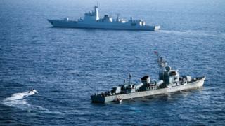 Китайские военные суда в Южно-Китайском море