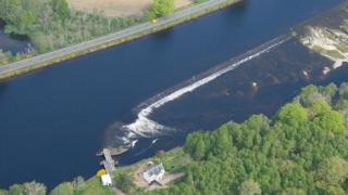 Ness Weir on Caledonian Canal
