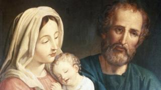 Painting of the Virgin Mary, Jesus and Joseph