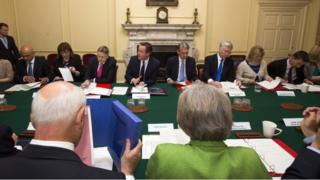 David Cameron holds a cabinet meeting (file photo)
