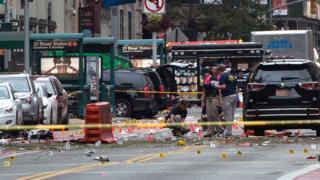 Место взрыва на Манхэттене